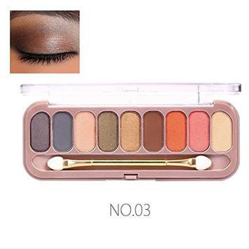 Creazy 9 Colors Shimmer Eyeshadow Eye Shadow Palette & Makeup Cosmetic Brush Set
