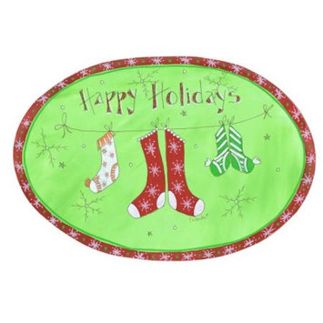Happy Holidays Oval Plaque