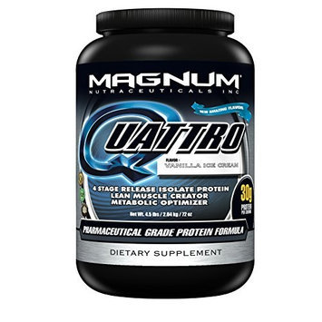 Magnum Nutraceuticals Quattro Supplement, Vanilla Ice Cream, 4.5 Pound