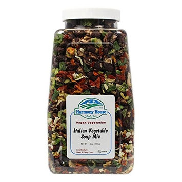 Harmony House Foods Soup Mix, Italian Vegetable Soup, 14 Ounce Quart Size Jar