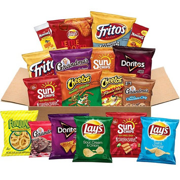 Ultimate Snacks Care Package, Flavor Variety Assortment of Chips, Cookies, Crackers, Nuts, 40 Count [Flavor Mix]