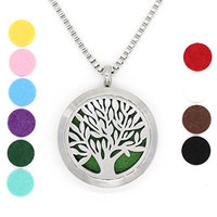 COOHAA Aromatherapy Essential Oil Diffuser Necklace,Locket Pendant + 23