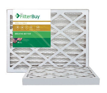 AFB Gold MERV 11 20x36x2 Pleated AC Furnace Air Filter. Filters. 100% produced in the USA. (Pack of 2)