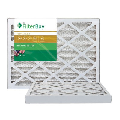 AFB Gold MERV 11 11.25x11.25x2 Pleated AC Furnace Air Filter. Filters. 100% produced in the USA. (Pack of 2)