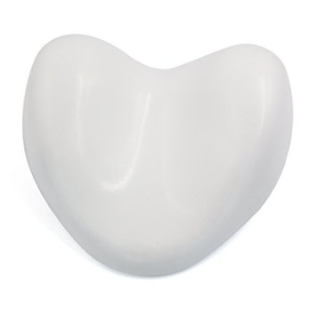 uxcell White Waterproof Heart Shape Soft Spa Bath Pillow Neck Back Support Cushion for Bathtub Hot Tub