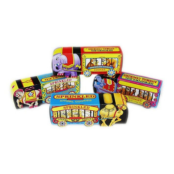 Sprinkled Animal Cookies in Circus Wagon Boxes Set of 4