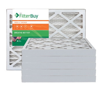 AFB Bronze MERV 6 13x18x2 Pleated AC Furnace Air Filter. Filters. 100% produced in the USA. (Pack of 6)