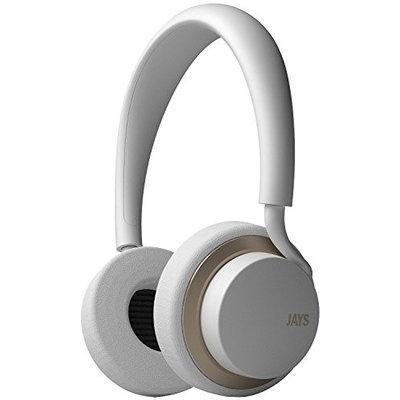 JAYT00118 JAYS u-JAYS On-ear iOS Headphones - White/Gold