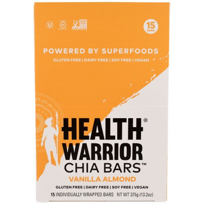 Health Warrior, Inc, Chia Bars, Vanilla Almond, 15 Bars, 13.2 oz (pack of 2)