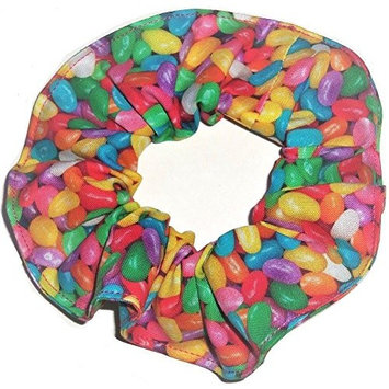 Easter Jelly Beans Fabric Hair Scrunchie Handmade by Scrunchies by Sherry Ponytail