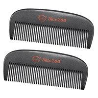 Baoblaze 2pcs Premium Natural Pearwood Comb Anti-static Beard and Hair Care Black