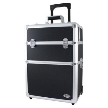 Jacki Design Rolling Aluminum Pro Makeup Artist Train Case