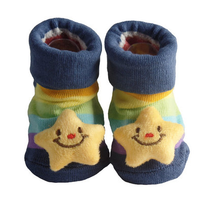 Cute Infant Baby Booties, Cotton 3D Sock Slippers, 0-6 Months [character: character-starfish]