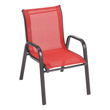 FAIRVIEW KID RED CHAIR by LIVING ACCENTS MfrPartNo CY4008SBKCY012