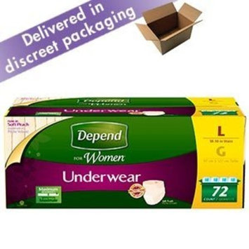 Depend Protective Underwear Women Large 72 Count by Depend