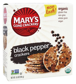 Mary's Gone Crackers - Organic Crackers Black Pepper - 6.5 oz (pack of 3)