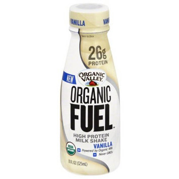 Organic Valley Organic Fuel Vanilla High Protein Milk Shake, 11 fl oz, (Pack of 12)