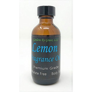 Lemon Fragrance Oil   Phthalate Free, Body-Safe   For Soap, Candle Making, Bath Bombs, Diffuser   Aromatherapy, Scent Warmer, Potpourri   2 oz