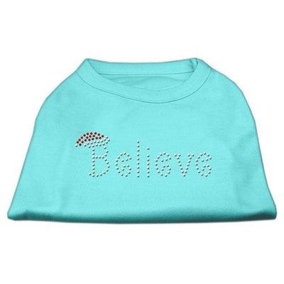 Mirage Pet Products 522502 SMAQ Believe Rhinestone Shirts Aqua S 10