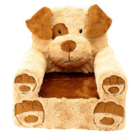 Sweet Seats Adorable Tan and Brown Dog Children's Chair Ideal for Children Ages 2 and up, Machine Washable Removable Cover, 13
