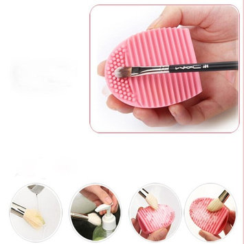 Bestpriceam Cleaning Makeup Washing Brush Silica Glove Scrubber Board Cosmetic Clean Tools Pink