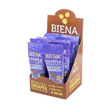 Biena Vegan Non-GMO Baked Chickpea Snacks, Rockin' Ranch, 10 Count [Rockin' Ranch]