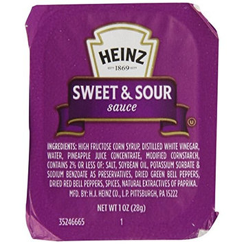 Heinz Sweet & Sour Sauce, Single Serve, 1 oz. Dunk Cup, Pack of 100