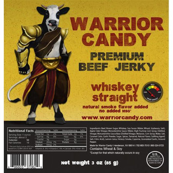 Warrior Candy Premium Beef Jerky Whiskey