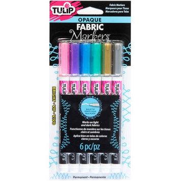 Tulip Opaque Fabric Markers 6/Pkg-Bright