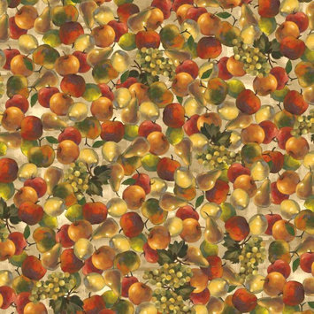 David Textiles Inc. Fruits Tossed Quilting Cotton Fabric By The Yard, 44