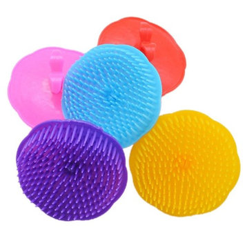 Baomabao 1PC Hair Massager Brush CombSilicone Shampoo Scalp Shower Body Washing