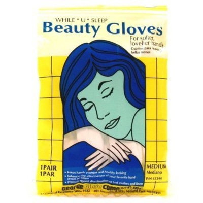 Beauty Gloves (Cotton) Reg/Med (12 Pieces)