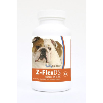 Healthy Breeds 840235125778 Bulldog Z-FlexDS plus MSM Chewable Tablets - 60 Count