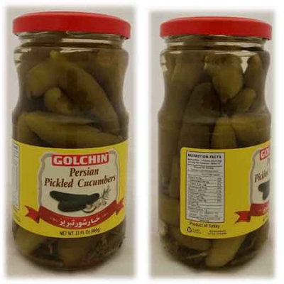 Packed For Ofd GOLCHIN TABRIZ PICKLED CUCUMBERS