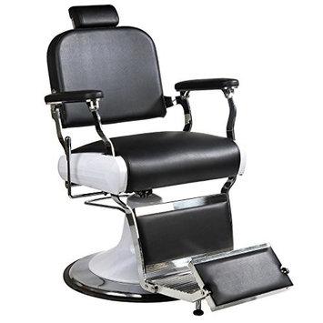 BestMassage Stainless Steel HeavyDuty Hydraulic Recline Barber Chair SalonBeauty Shampoo