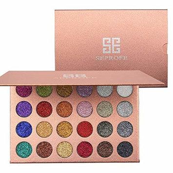 DONGXIUB 24 Color Pressed Glitter Eyeshadow Palette Metallic Highly Pigmented Shimmery Waterproof Long Lasting