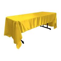 LA Linen TCbridal60X126-YellowB47 Bridal Satin Rectangular Tablecloth, Yellow - 60 x 126 in.