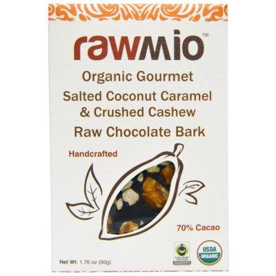Rawmio, Organic Gourmet Salted Coconut Caramel & Crushed Cashew Raw Chocolate Bark, 1.76 oz
