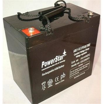 PowerStar AGM12-55-ins3 12V 55AH Battery For Quantum Rehab Q600, Q614, Q1121, Q600XL