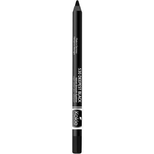 Kokie Cosmetics Waterproof Velvet Smooth Eyeliner Pencil, Deepest Black, 0.042 Ounce