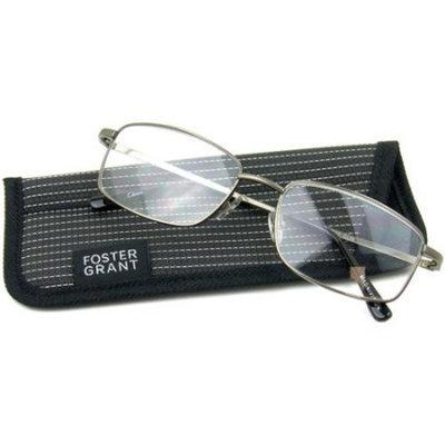 Foster Grant Men's T10 Reading Glasses, Silver