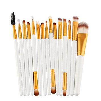 Vinjeely 15pcs/set Makeup Brush Set tools, Comestic Eyeshadow Eyebrush Lip Kit Wool Make Up Brush Set