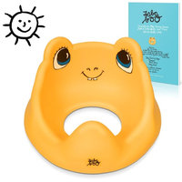 Premium Potty Training Seat, Stickers and eBook, Great Adapter for Round Toilets [Yellow]