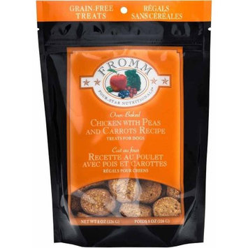 Fromm Four Star Nutrionals Fromm Four-Star Grain-Free Treats for Dogs, Chicken with Carrots & Peas, 8 oz