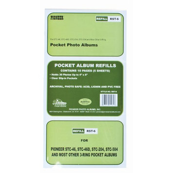 Pioneer Refill Pages for Pocket 3-Ring Binder Albums RST6