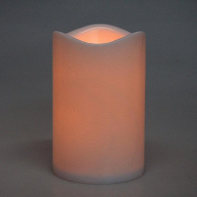 Homeford Flameless Plastic Candle LED Light, Ivory, 4-1/2-Inch