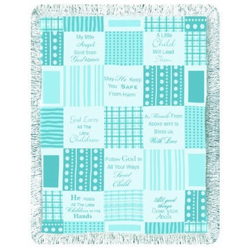 Manual Woodworkers Little Angels Blanket - Blue