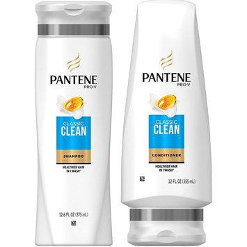 Pantene Pro-V Classic Clean Shampoo and Conditioner Set, 12.6 Fl Oz and 12 Fl Oz (Set Contains 2 items)