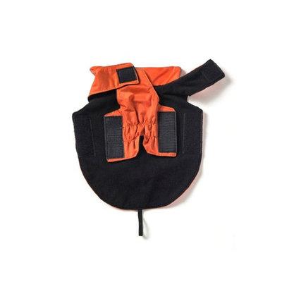 SymbolLife Dog Coat 100% Waterproof Nylon- Fleece Lined Jacket Reflective Dog Jacket Warm Dog Coat Climate Changer Fleece Jacket Easy On and Off Size S, Black [Black, S]