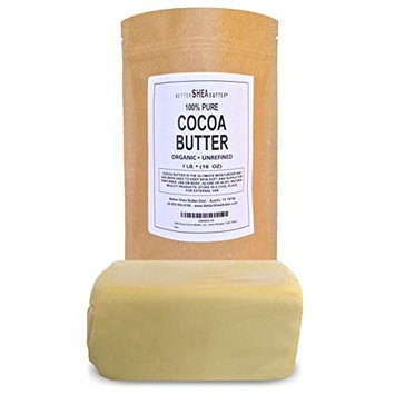 Unrefined Cocoa Butter by Better Shea Butter - 1 lb